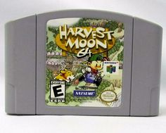 Harvest Moon 64 Nintendo 64 Game, Game - Tested and Working - Video Game Harvest Moon N64, Natsume, Nintendo 64 Games, Retro Video Games, I Am Game, Best Games, Card Games, Growing Up, Geek Stuff