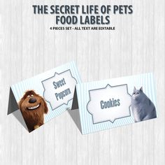 The Secret Life of Pets Food Labels by DigitalDesignChile on Etsy