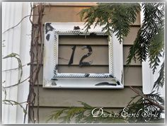 Frame your house number with a vintage frame