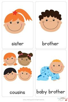There are 28 brightly coloured, high quality printable flash cards,all about families.