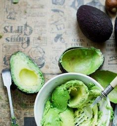 Avocados and healthy skin  For an excellent skin complexion, rub one or more of the following items against the skin two to four times a week: papaya pulp, avocado, cucumber, spirulina, fresh noni fruit and/or aloe vera. For dry skin, rub hempseed oil, jojoba oil and MSM lotion directly into the skin. This will alleviate dryness quickly. Or use avocado on the skin directly. Avocado oil is similar to our skin's oil.  -David Wolfe  https://www.facebook.com/DiMartinoChiropractic