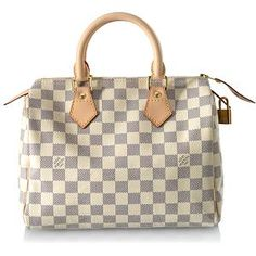 Louis Vuitton Damier Azur Speedy 25 Handbag @Bag Borrow or Steal The fashionable way to travel with everything you need. A definite must-have! #BBOSBrandBurst