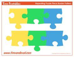 Printable Puzzle Piece Border