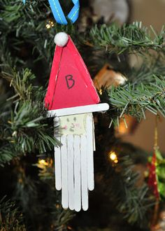 This Farm Family's Life: Christmas Craft Time: Santa Ornament...