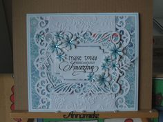 Sue Wilson dies. Using inspiration from Phil Martin. This is 1 of 3 similar cards.