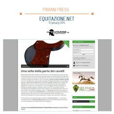 ALCANTARA PROGRIP - a #unique saddle designed to help #horses with no animal originated materials!  talking about it in equitazione.net!