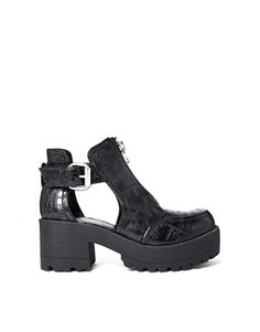 River Island Cleated Cut Out Ankle Boots