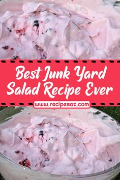 Best Junk Yard Salad Recipe Ever , Ingredients and detailed directions brought to you by Recipes A to Z Jello Fruit Salads, Creamy Fruit Salads, Dessert Salads, Fruit Salad Recipes, Cherry Jello Salad Recipe, Cherry Jello Recipes, Fruit Cocktail Salad, Fluff Desserts, Jello Desserts