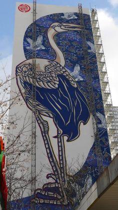 Monumental héron bleuté, Paris