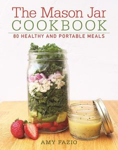Use this cookbook to help guide your journey into mason jar lunches. Get 24 mason jars from Amazon for $31.99 or the cookbook from Amazon for $13.59, Barnes & Noble for $19.99, or a local bookseller through IndieBound here.