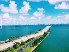 Miami Beach bridge. Always wanted to see water like that!!
