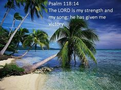 The Lord is my strength and song, and is become my salvation. -Psalm 118:14