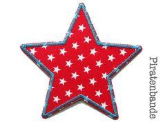 Bild: Stern Sternchen rot Aufnäher
