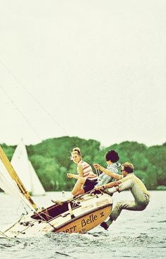 Teenagers sailing on Lake Harriet in Minneapolis, Minnesota  National Geographic | November 1963