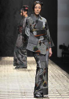 Asian. Far East. Japan. Kimono girl (traditional Japanese dress). kimono / jotaro saito