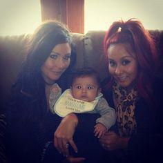 <3 Jwoww& Snooki & Baby Lorenzo