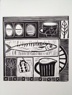 Been sorting lino prints and cutting new ones. Lino Art, Kunst Poster, Linoprint, Design Graphique, Chalk Pastels, Ex Libris, Tampons, Linocut Prints, Woodblock Print