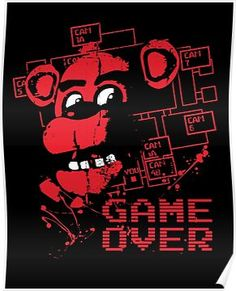 Five Nights At Freddy's Pizzeria Game Over Poster