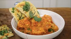 Coming in at under half an hour, this is a quick and easy weeknight supper that ticks all the boxes and promises big on flavour.Plus, it pairs perfectly with James' fragrant homemade naan breads. Enjoy! Fish Recipes, Indian Food Recipes, Asian Recipes, Ethnic Recipes, Homemade Naan Bread, Curry Night, Morning Food, Saturday Morning, Prawn Curry