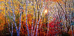 "Tim Packer, October Glory, giclee on canvas, 36"" x 72"", $1,495.00"