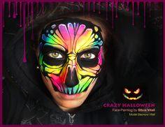 CRAZY HALLOWEEN Face Painting By Silvia Vitali https://www.facepainting.academy/face-painting-academy-pre-lancio/