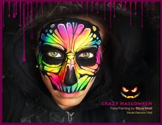 CRAZY HALLOWEEN Face Painting By Silvia Vitali https://www.facepainting.academy/face-painting-academy-pre-lancio/