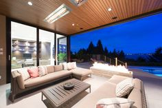 This contemporary residence is located in Vancouver, British Columbia, designed and built by architect Craig Chevalier and Raven Inside. Modern Entrance, Entrance Design, Architectural Design House Plans, Architecture Design, British Columbia, House Worth, Living Room Decor On A Budget, Living Rooms, Modern Properties