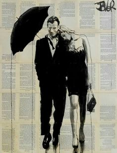 LOUI JOVER (an Australian painter and artist known for his artwork in ink wash paintings on vintage book pages)