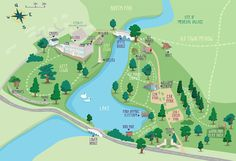 Compton Verney Art Gallery and Park Map Barcelona City Map, Map Design, Graphic Design, Theme Park Map, Compton Verney, Village Map, Local Map, Elephant And Castle, Journey Mapping