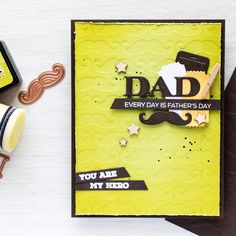 Spellbinders | DIY embossing plates. Father's Day Card.