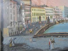 Grande Gouache Napolitaine 1850 Lucia