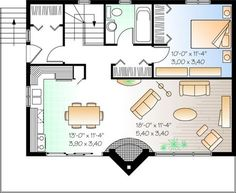 Tweek to 1 level with 2nd BR & 1/2 bath; Plan No.142492 House Plans by WestHomePlanners.com
