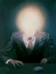 René Magritte: The Pleasure Principle (Portrait of Edward James), 1937.