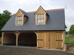 Oak garage with room above