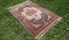 Antique Turkish Kayseri area rug