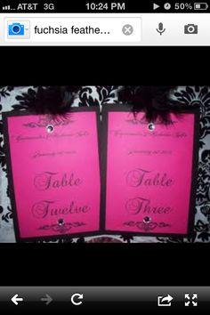 Black and pink wedding