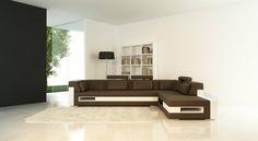 Sofá chaise longue c/ espaço arrumação
