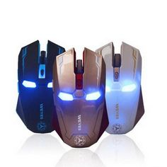 9dc0eaccbed New Iron Man Mouse Wireless Mouse Gaming Mouse gamer Mute Button Silent  Click 1200/1600