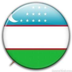 Uzbekistan flag badge