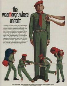 Green Boy Scout Uniform. ('Boy's Life' magazine, Jan. 1974)