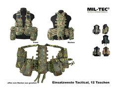Mil-Tec Einsatzweste Tactical, 12 Taschen    A