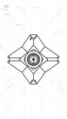 Destiny Ghost Doodle Wallpaper: Work in Progress Destiny Bungie, Cayde Destiny, Destiny Tattoo, Destiny Warlock, Destiny Poster, Mobile Wallpaper, R6 Wallpaper, Ghost Tattoo, Tattoo Designs
