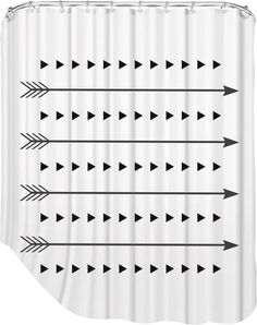 Melinda Wood Arrows and Triangles Shower Curtain