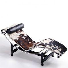 Cassina - Le Corbusier LC4 Lounger Cassina - leather LCX black/frame matt black lacquered/base frame black