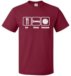 Eat Sleep Volleyball Shirt - Funny volleyball tee - oTZI Shirts