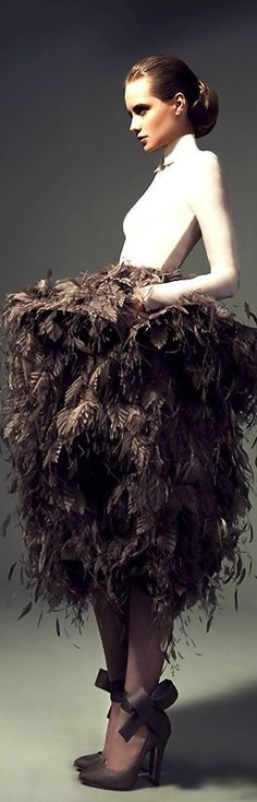 Girly Girl ~ Shades of Brown Ashi Studio, Feather Fashion, Frou Frou, Young Fashion, Brown Fashion, World Of Fashion, Cool Outfits, Style Inspiration, Gowns