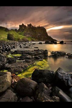 Dunlace Castle, Northern Ireland - My ancestors were literally born here!
