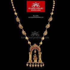 Gopuram Lakshmi Semilong Necklace