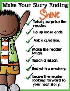 Make your story endings shine! Click on the picture for the poster.