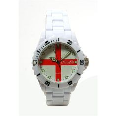 Boxx England White Plastic Strap Analogue Watch In Presentation Box